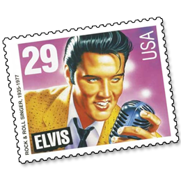 Stamps      with the theme Elvis Presley     '