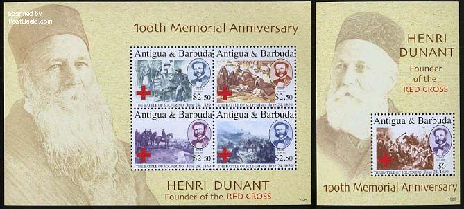 Henri Dunant, Red Cross 2 s/s