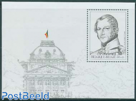 Philately, king Leopold I s/s