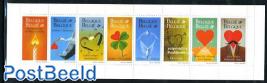 Greeting stamps 8v in booklet