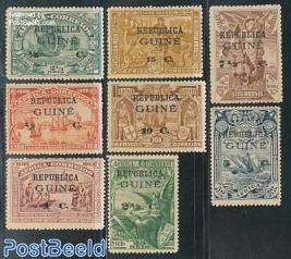 Vasco da Gama 8v on stamps of Portugese Africa
