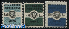 Welfare stamps for fiscal use 3v