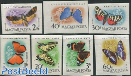 Butterflies 7v imperforated