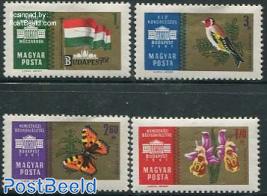 Budapest stamp exposition 4v