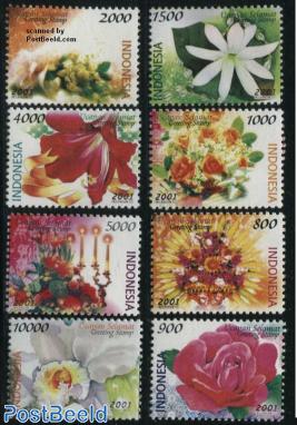 Greetings, flowers 8v