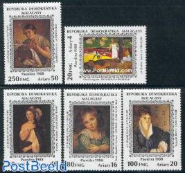 Woman paintings 5v (Gauguin,Greuze,Titian,Renoir,