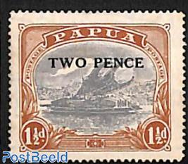 TWO PENCE Overprint 1v