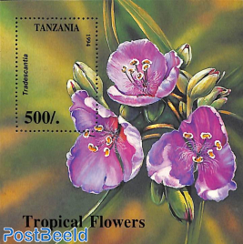 Tropical flowers s/s