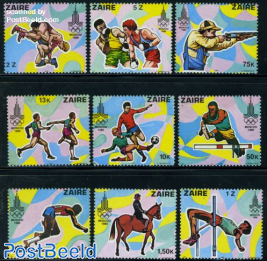 Olympic Games Moscow 9v (not off. issued)