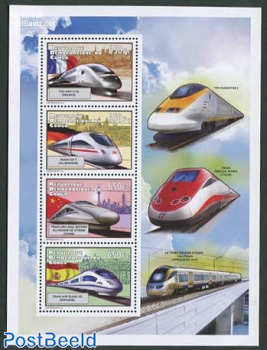 High speed trains 4v m/s
