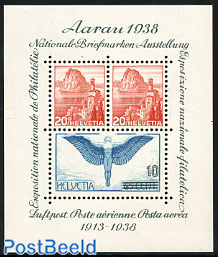 Aarau stamp exposition s/s