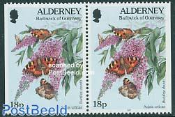 Butterflies booklet pair, 18p