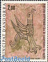Roman Fresco, eagle 1v