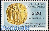 Santa Eulalia medieval coin 1v