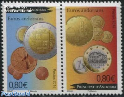 Andorrean Euro Coins 2v [:]