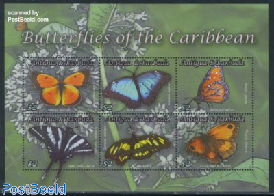 Butterflies of the Caribbean 6v m/s