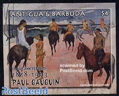 Paul Gaugin s/s, Les Cavaliers sur la plage