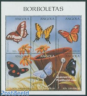 Butterflies 6v m/s, Metamorpha Stelenes