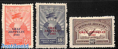 Graf Zeppelin 1932 3v