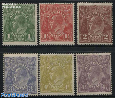 Definitives 6v, WM3