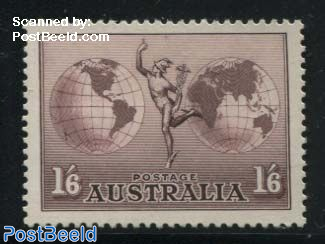 Airmail definitive with WM 1v (1937)