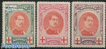 Red Cross 3v, King Albert I