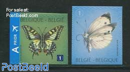 Butterflies 2v s-a (imperforated on 1 or 2 sides)