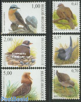 Definitives, birds 6v