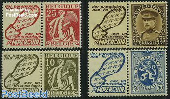 Definitives with tabs, Impercuir 4v
