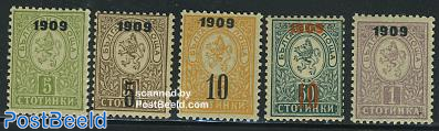 1909 overprints 5v