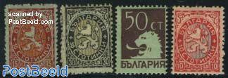 Definitives, coat of arms 4v