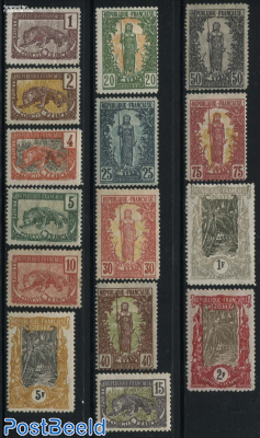 French Congo, Definitives 15v