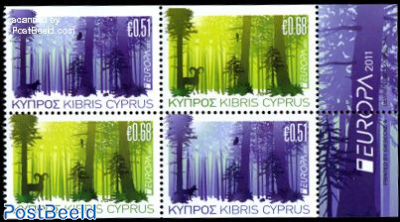 Europa, forests 4v (from booklets)