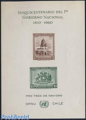 National government imperforated sheet