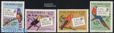 UPU Centenary, birds 4v