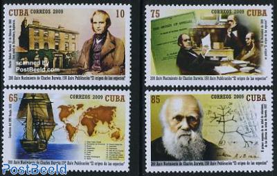 Charles Darwin 4v