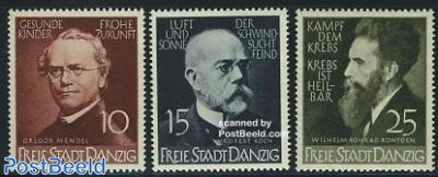 Mendel, Koch, Roentgen 3v