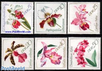 Orchids 6v