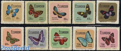Definitives, butterflies 10v