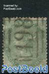 1Sh, Yellowgreen, Queen Victoria