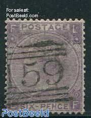 6p, Purpleviolet, Queen Victoria