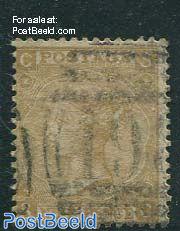 9p Yellowbrown, Queen Victoria