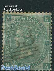 1Sh Darkyellowgreen, Queen Victoria