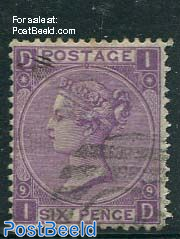 6p Violet, Queen Victoria
