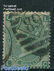 1Sh Yellowgreen, Queen Victoria