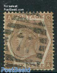 6p Orangebrown, Queen Victoria