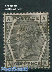 6p Grey, Queen Victoria