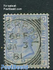 2.5p Darkcobalt, Queen Victoria