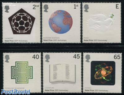 Nobel prize centenary 6v