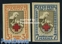 Red Cross 2v imperforated